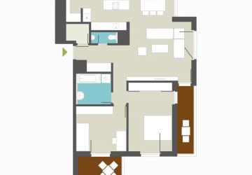 Reality Novy veľky 3 izbový byt v krasnom prostredí 2x balkon -  C 111