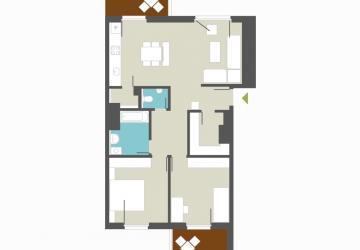 Reality Krásny nový 3 izbovy byt  - 2xbalkon otočený na dve sv. strany. C 144