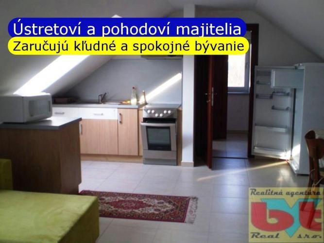 Reality BVT Real: Na prenájom 2 izb podkrovný byt 60m2 v novostavbe rodinného domu, samostatný vstup, ko