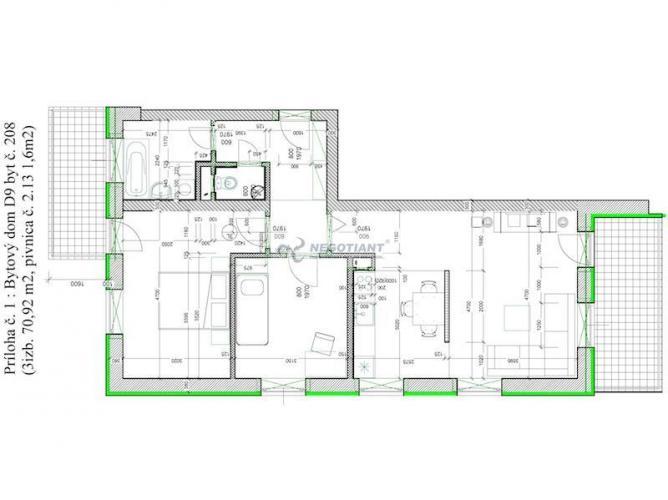 Reality Na predaj 3 izbový byt v projekte Muškát - Pezinok.