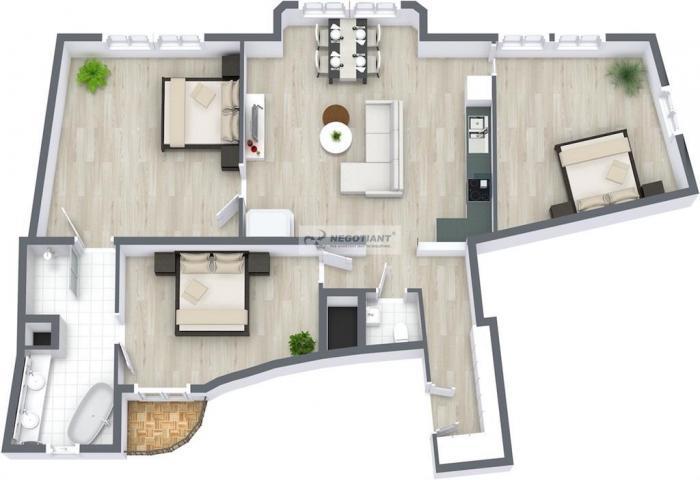 Reality Na predaj nadštandardne zrekonštruovaný 4 izbový byt na Námestí 1. mája v mestskej časti Bra