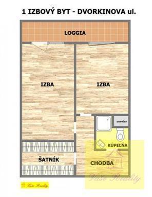 Reality 1,5-izb. Furča - Dvorkinova, 43m2, lodžia, kompl. rek., 6.p