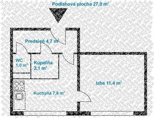 Reality 1 izbový byt Slobody ,Košice-Terasa