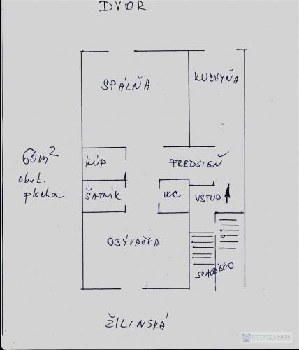 Reality Predaj 2 izb. byt, 60 m2, pôv. stav, centrum