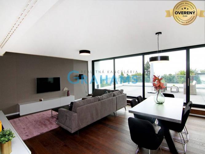 Reality GRAHAMS - PRENÁJOM, 3 izb. luxusného bytu, vnút. státie, BA 1