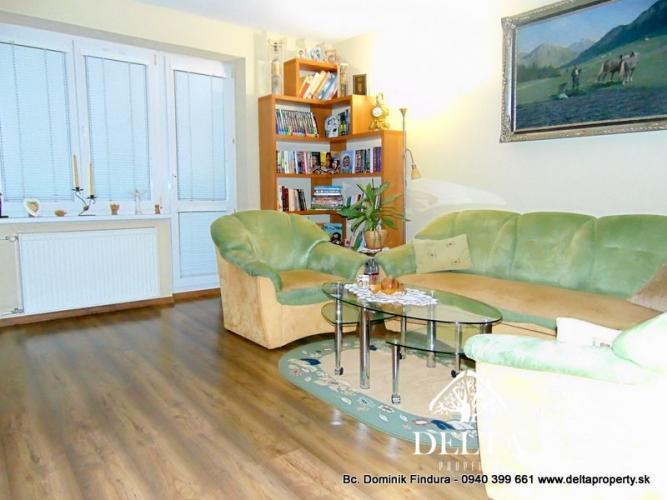 Reality DELTA - Krásny 3-izbový byt s loggiou na predaj Spišská Nová Ves - širšie centrum
