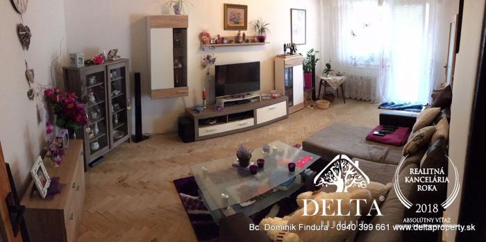 Reality DELTA - Slnečný 4-izbový byt s balkónom na predaj Poprad - centrum