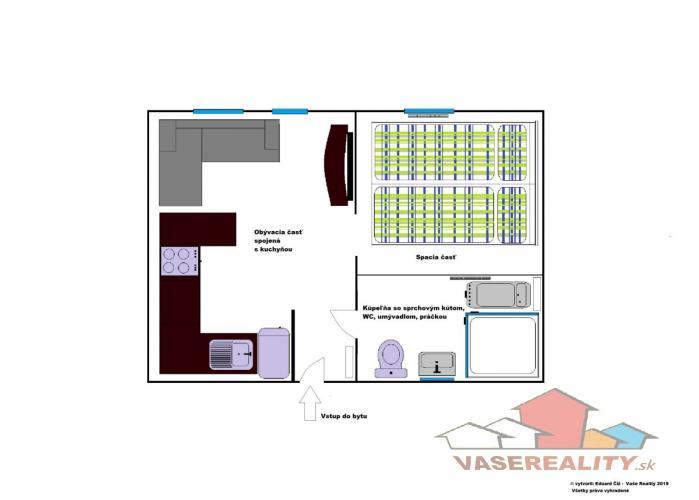 Reality Na prenájom veľmi pekný 1,5 izbový byt, Jelenia ul. Staré Mesto, voľný od 1.4.