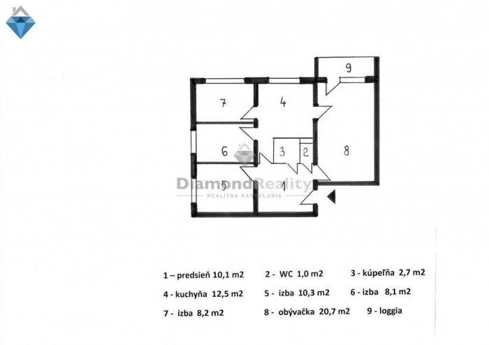 Reality Na predaj 4-izbový byt, Watsonova ulica, mestská časť Košice-sever, okres Košice I.