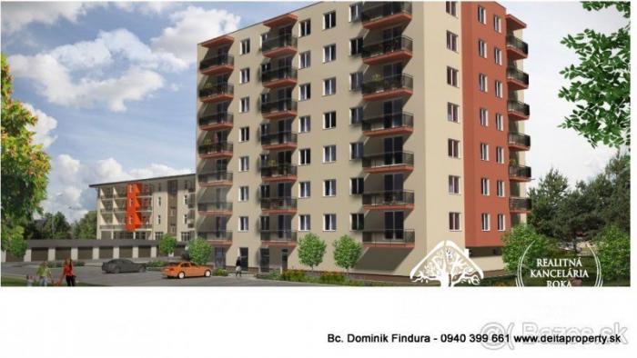Reality DELTA - 3-izbové byty s balkónom v novostavbe na predaj Sp. Nová Ves - širšie centrum