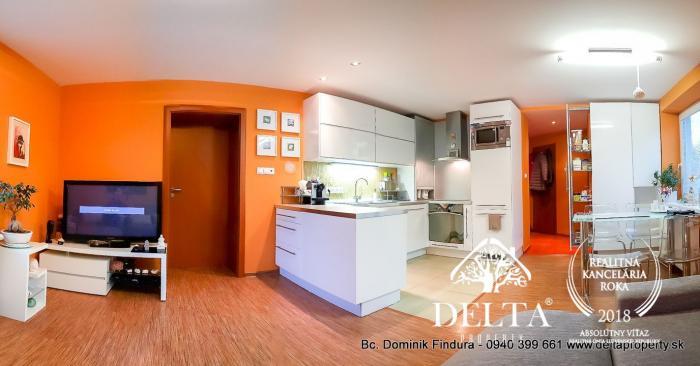 Reality EXKLUZÍVNE - Moderný, nadštadardne zrekonštruovaný 3-izbový byt so šatníkom a vl.kúrením n
