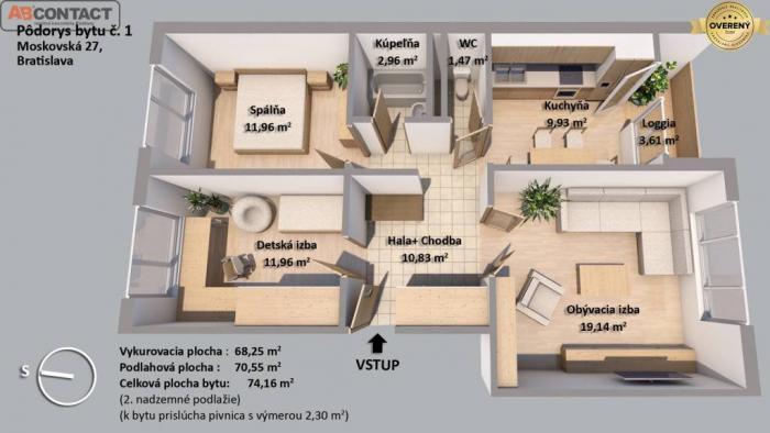 Reality Zariadený byt pri Medickej záhrade