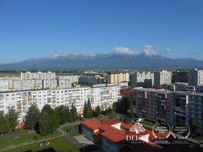 Reality Na predaj 3-izbový byt s výhľadom na Vysoké Tatry