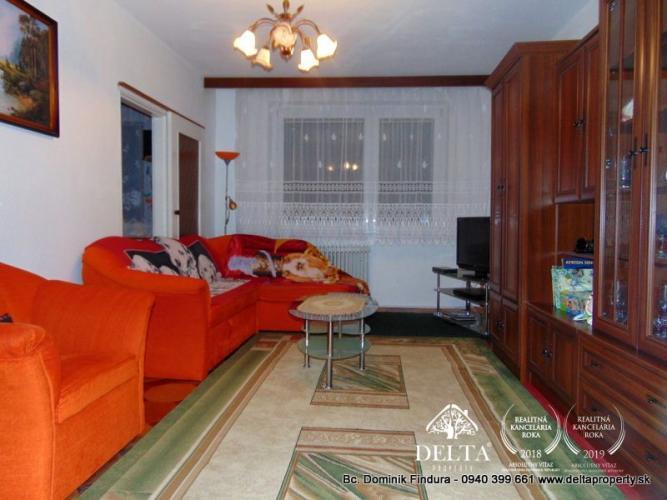 Reality DELTA - Priestranný 4-izbový byt na predaj Sp. Nová Ves - Mier