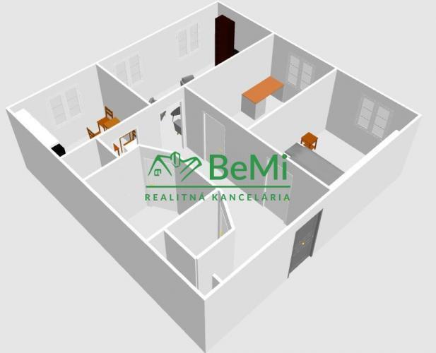 Reality 3 izbový byt na sídlisku Juh