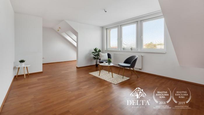 Reality DELTA   3 izb. slnečný byt, 91 m2, Bratislava Ružinov