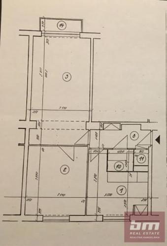 Reality 2 izb. byt na Záhradníckej ul. Ružinov, 4/5 posch. balkón