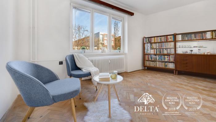 Reality DELTA   Predaj 3-izb. byt v tichom prostredí, širšie centrum, Nivy, 75 m2