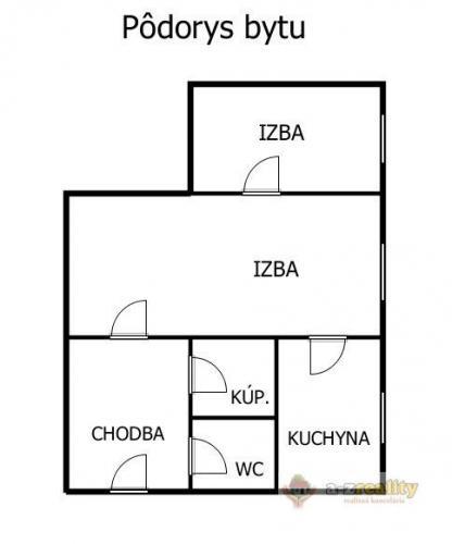 Reality 2895 Na predaj 2-izb. byt v Nových Zámkoch