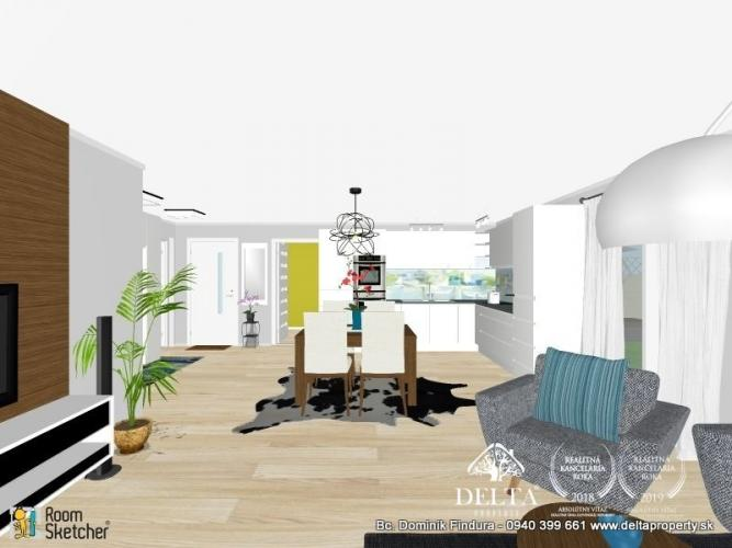Reality DELTA - Útulný 3-izbový byt s predzáhradkou na predaj v novostavbe Novoveská Huta