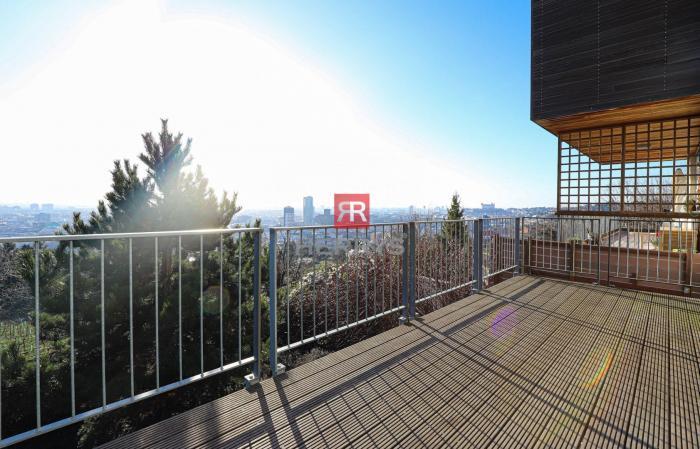 Reality HERRYS - Na prenájom 5 izbový veľkometrážny byt s veľkou záhradou a výhľadom na mesto v rez