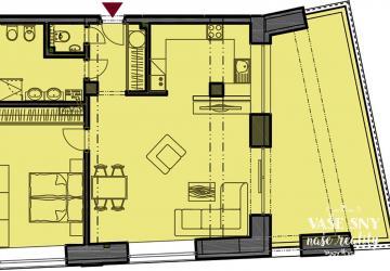 Reality Priestranný 2 izbový byt s  veľkou terasou v centre mesta Nové Mesto nad Váhom plus garáž v n