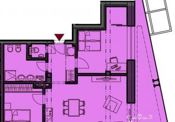 Reality 3 izbový byt s terasou v centre mesta Nové Mesto nad Váhom a podzemnou garážou v novostavbe byt