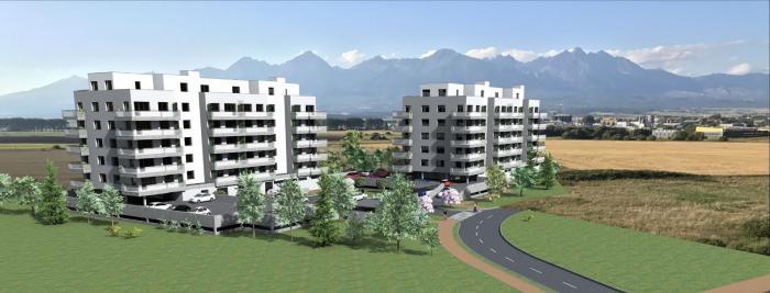 Reality 4. PODLAŽIE, 2-izbový byt s balkónom 4E na 4. podlaží, BYTOVÝ DOM BARBORA - NOVÉ BYTY V POPRA