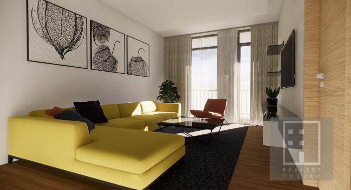 Reality Zazmluvnený 2-izb. byt E 01.1,  74.000 Eur, Nové bývanie Martin-Priekopa