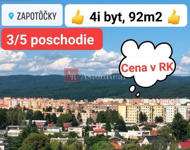 Reality PREDAJ: 4-izbový byt s loggiou, rekonštrukcia, 92 m2, cena v RK