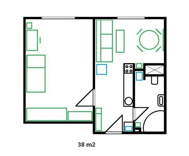 Reality predám 1,5 izbový tehlový byt