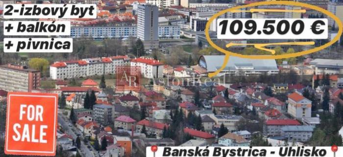 Reality Predaj: 2-izbový byt, 58 m2 + balkón, UHLISKO