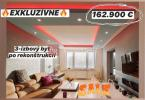 Reality EXKLUZÍVNE: 3-izb. byt, po úplnej rekonštrukcii komplet so zariadením
