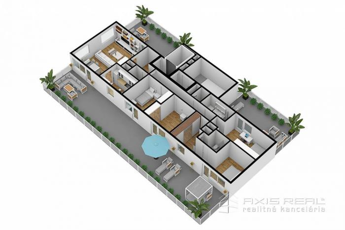 Reality AXIS REAL:: 5-izbový byt (7S) NOVOSTAVBA, Poprad, Suchoňova ulica
