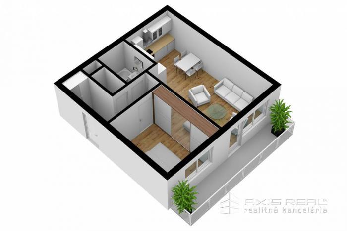 Reality AXIS REAL:: 2-izbový byt (3E) NOVOSTAVBA, Poprad, Suchoňova ulica