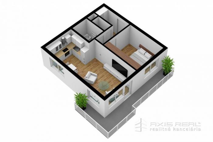 Reality AXIS REAL:: 2-izbový byt (M3A) NOVOSTAVBA, Poprad, Suchoňova ulica