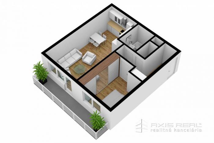Reality AXIS REAL:: 2-izbový byt (M3F) NOVOSTAVBA, Poprad, Suchoňova ulica