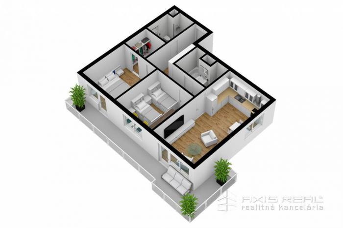 Reality AXIS REAL:: 3-izbový byt (M3M) NOVOSTAVBA, Poprad, Suchoňova ulica
