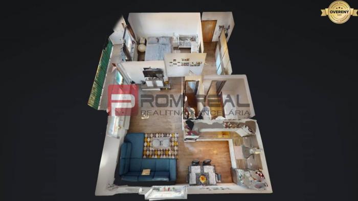 Reality Na PREDAJ 2 izbový byt v Slovenskom Grobe s krásnym výhľadom
