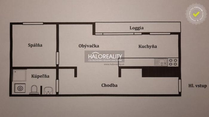 Reality Predaj, dvojizbový byt Prešov, Sekčov, neďaleko MAX-u - NOVOSTAVBA - EXKLUZÍVNE HALO REALITY