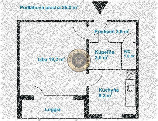 Reality 1.izb.byt 39m2 Loggia, Košice sídl.Ťahanovce