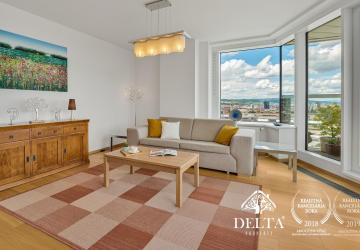 Reality DELTA | PANORAMA CITY: 3 izbový byt na 17. poschodí, Staré Mesto, 92 m2