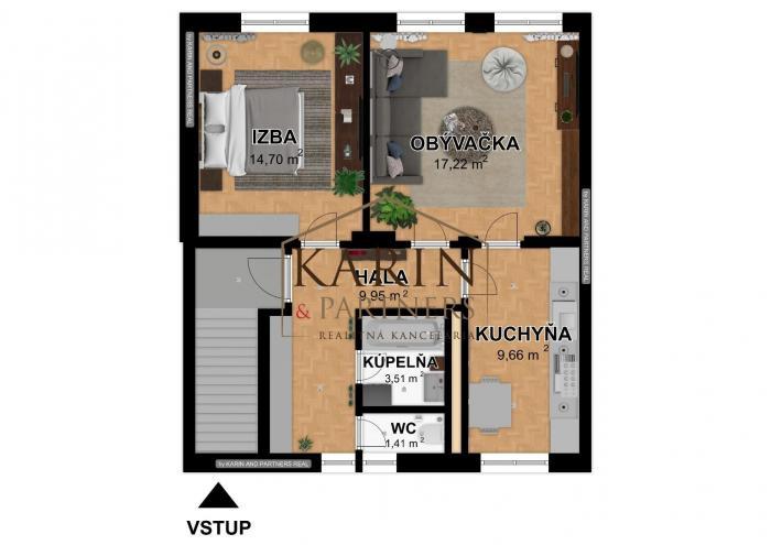 Reality Na predaj 2 izbový byt v rodinnom dome, Šafárikova ulica, Senec