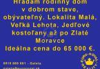 Reality Hľadám rodinný dom v dobrom stave, Zlaté Moravce - Veľká lehota