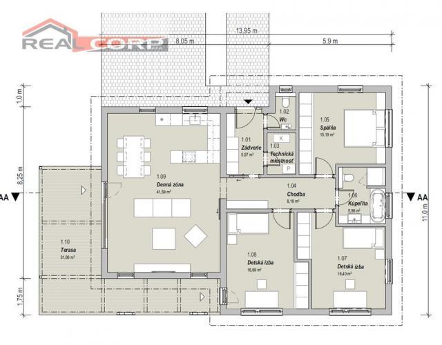 Reality NOVOSTAVBA RD, Rajecké Teplice, 114,52 m2, Cena: 199.500 €