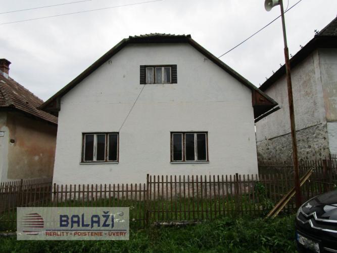 Reality SKLENÉ rodinný dom na poz. 2240m2, okr. Turčianske Teplice