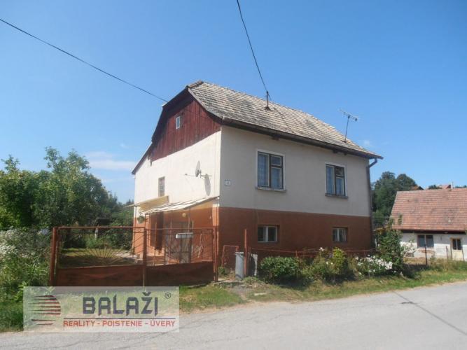 Reality SKLENÉ 4 izbový dom s poz. 2178m2, okr. Turčianske Teplice