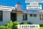 Reality PREDANÉ: 5-izbový RD, 270 m2 so záhradou na Bôriku, ZA
