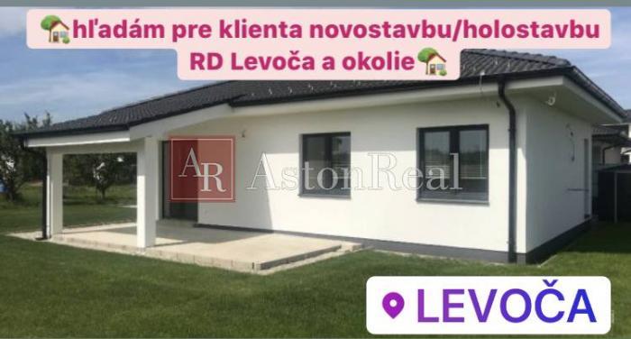 Reality Hľadám pre klienta novostavbu/holostavbu RD Levoča a okolie