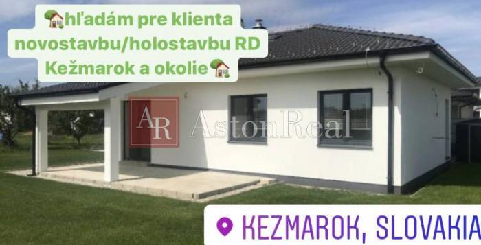 Reality Hľadám pre klienta holostavbu/novostavbu RD s pozemkom  v Kežmarku